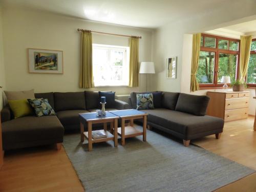 พื้นที่นั่งเล่นของ Villa Schnuck - das rote Ferienhaus