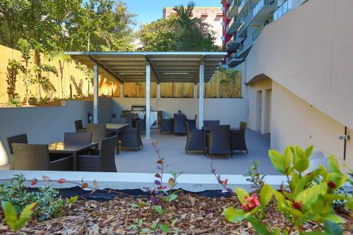 A patio or other outdoor area at Gladstone Central Plaza