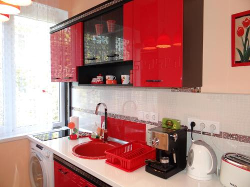 A kitchen or kitchenette at Orange Flower Apartments 1