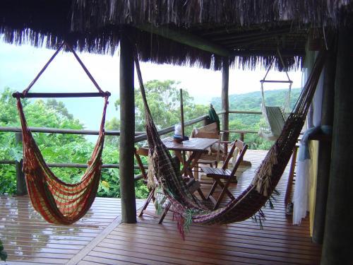 A balcony or terrace at Casa Ilhabela