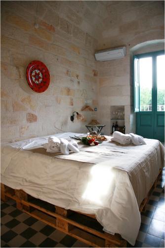 Letto o letti in una camera di Lazzarella B&B
