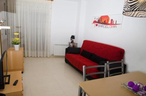 A seating area at Apartamentos Navas 2