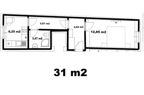 The floor plan of Apartments Verona Karlovy Vary