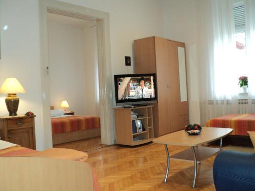 Una televisión o centro de entretenimiento en Apartment Horvat