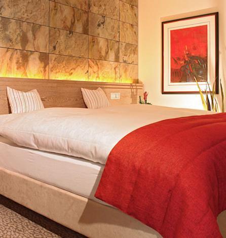 Ein Bett oder Betten in einem Zimmer der Unterkunft Hof31