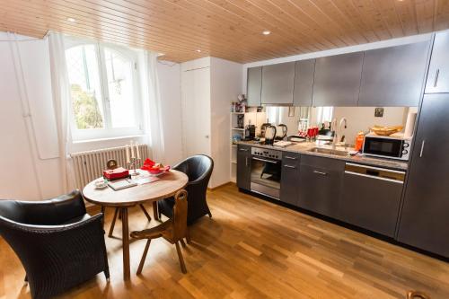 A kitchen or kitchenette at Apartments Justingerweg