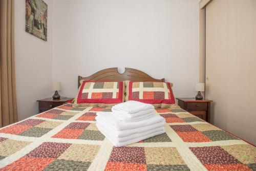 Cama o camas de una habitación en Alejandro Aliste Nº4