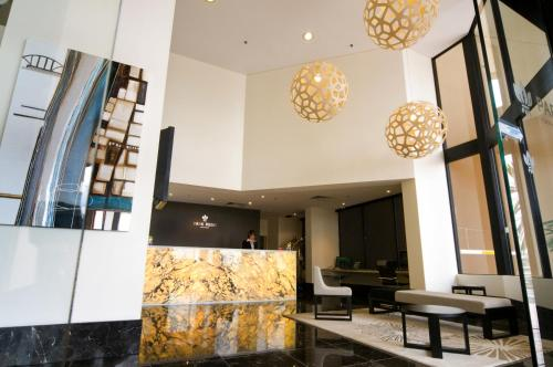 The lobby or reception area at Park Regis North Quay