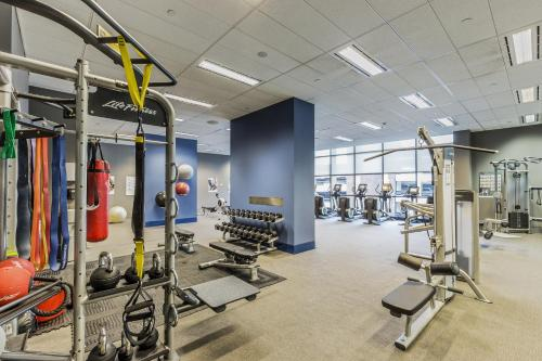 The fitness center and/or fitness facilities at Fraser Suites Sydney