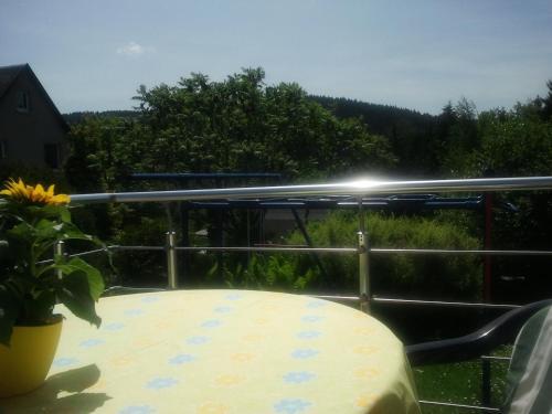 Ein Blick auf den Pool von der Unterkunft Ferienwohnung Steinbacher oder aus der Nähe