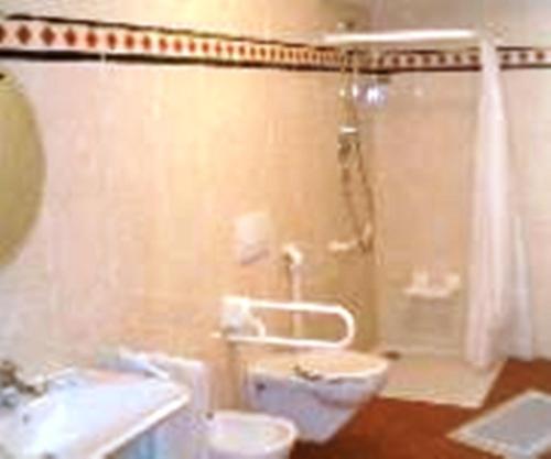 Ein Badezimmer in der Unterkunft Pension Angergut