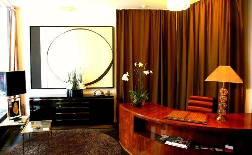 Lobbyen eller receptionen på Sablon-Aire Suite