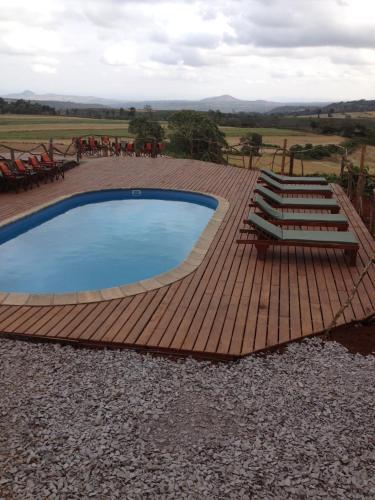 The swimming pool at or near Karatu Simba Lodge