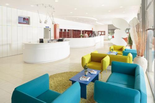 Lobbyen eller receptionen på Apartments Polynesia Plava Laguna