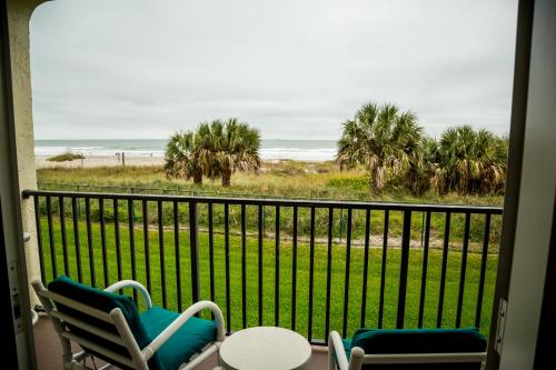 A balcony or terrace at Ocean Landings Resort