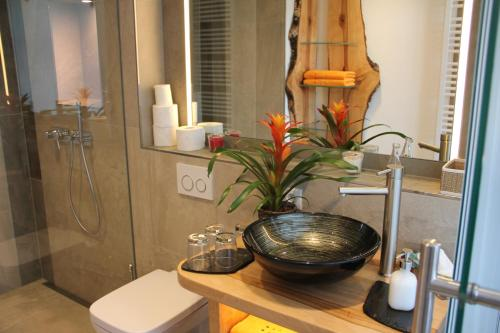A bathroom at Altstadtpalais im Sand