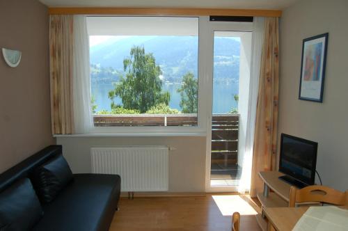 Гостиная зона в Appartement Alpensee