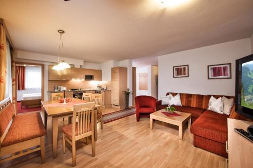 אזור ישיבה ב-Appartements Salzburgerhof