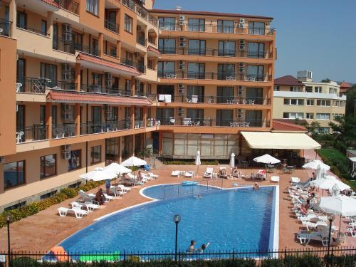 A view of the pool at Happy Aparthotel & Spa or nearby