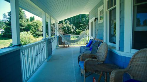 A balcony or terrace at Mission Creek Farm House