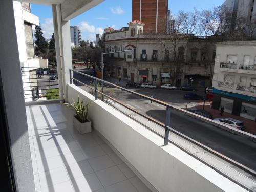 Un balcón o terraza en Apartamentos Diagonal