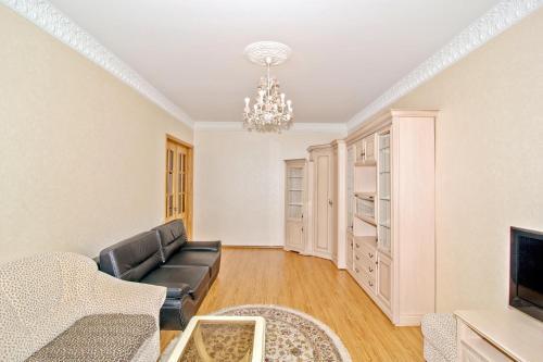 A seating area at Apartment Na Kutuzovskiy Prospect