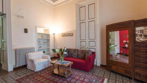 Area soggiorno di Les Maisons Palazzo Beneventano