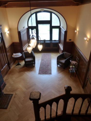 Svetainės erdvė apgyvendinimo įstaigoje Hotel Villa Tosca