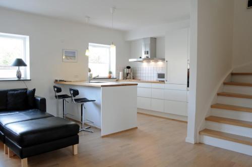 Køkken eller tekøkken på Hotel Strandvejen Apartment 3
