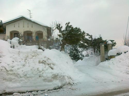 Appartamenti Vista Gransasso durante l'inverno