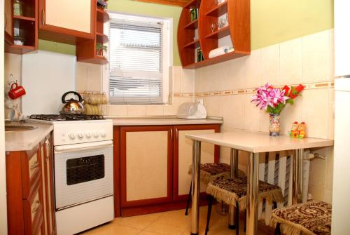 A kitchen or kitchenette at Apartment Ludmila