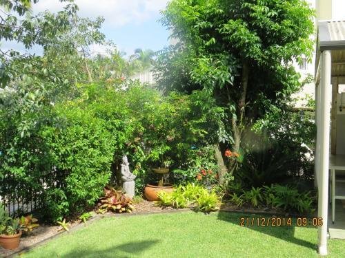 A garden outside Noosa Keys Resort