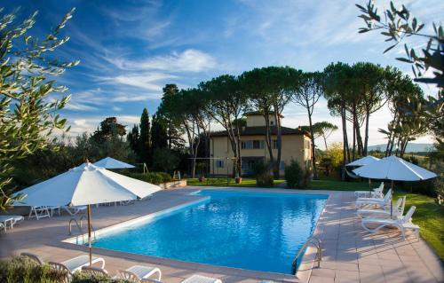 The swimming pool at or near La Certaldina