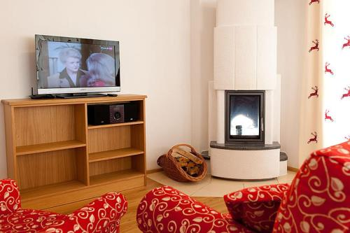 A television and/or entertainment center at Tauernchalets