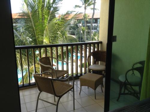 Uma varanda ou terraço em Marulhos Resort Flats
