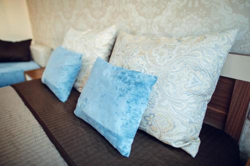 Кровать или кровати в номере Brest City Center Apartment