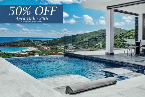 The swimming pool at or near Crystal Villa