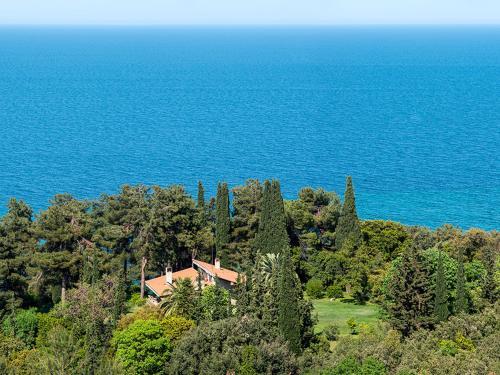 A bird's-eye view of Villa Moskoff