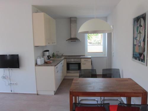 Küche/Küchenzeile in der Unterkunft Ferienwohnung zum Breitling