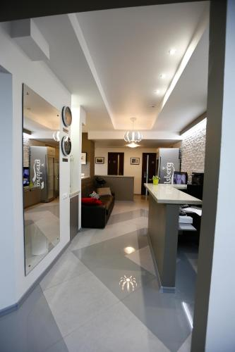 The lobby or reception area at Hostel U Vokzala Brandson