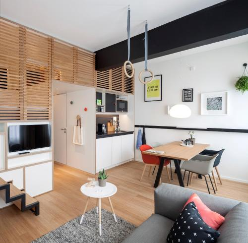 Cuisine ou kitchenette dans l'établissement Zoku Amsterdam