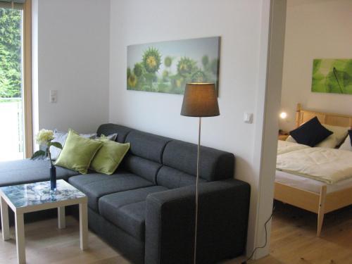 Ein Sitzbereich in der Unterkunft Ferienwohnung Lechner