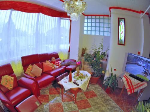 Posezení v ubytování Joker Villa Apartmanhaus