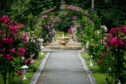 A garden outside Zámek Jemniště