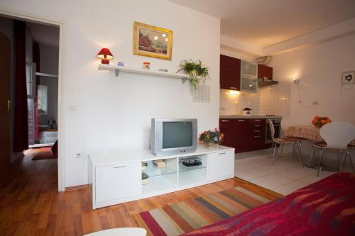 A television and/or entertainment center at Apartments Leo