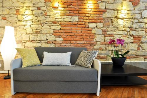 Ein Sitzbereich in der Unterkunft Central Spot Prague Apartments