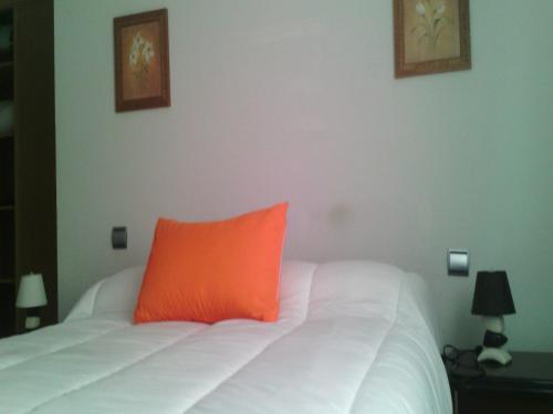 A bed or beds in a room at Apartamentos Emperatriz