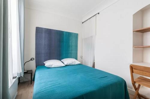 A bed or beds in a room at Great 2 bedrooms flat - Panthéon - Latin Corner