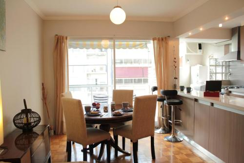 A restaurant or other place to eat at Luxurious Apartment in Palermo Buenos Aires