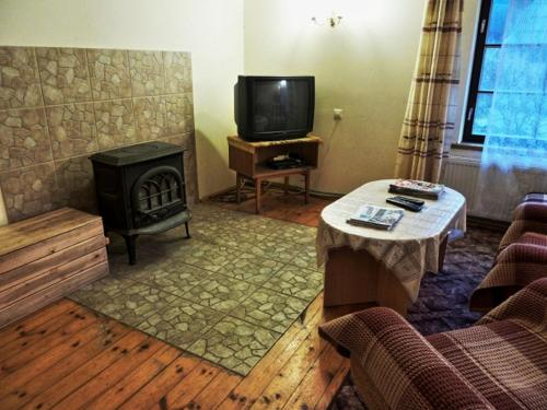 A television and/or entertainment center at Brīviņi